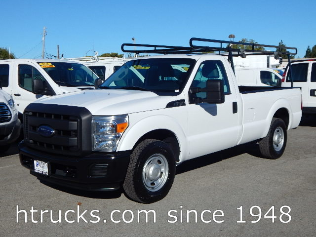 2013 Ford F250 8' Long Bed Regular Cab Pickup with LIFTGATE & RACK