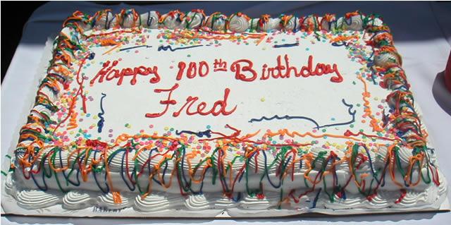 Happy Birthday Fred Cake