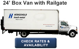 24' Box Van with Liftgate or Railgate